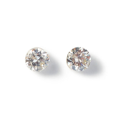 The Alkemistry 18ct white gold 0.2ct floating diamond studs
