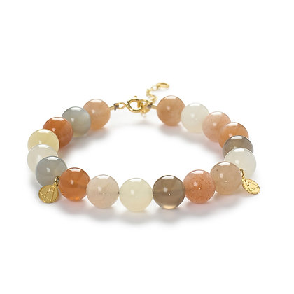 The Alkemistry 18ct yellow gold and rainbow moonstone ombre bracelet