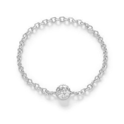 The Alkemistry 18ct white gold and diamond chain ring