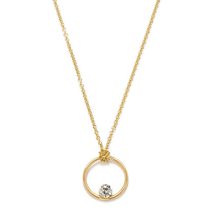 The Alkemistry 18ct yellow gold floating diamond circle necklace