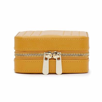 Maria square zip jewellery case - mustard