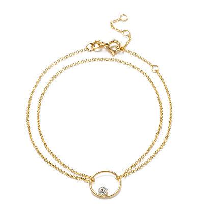 The Alkemistry 18ct yellow gold floating diamond circle bracelet