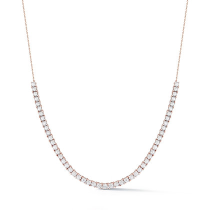 Dana Rebecca 14ct rose gold Ava Bea diamond tennis necklace