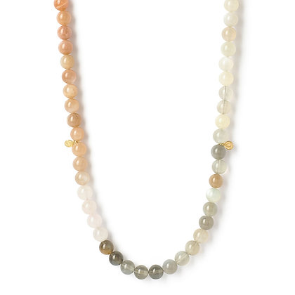 The Alkemistry 18ct yellow gold rainbow Moonstone ombre Cinta necklace