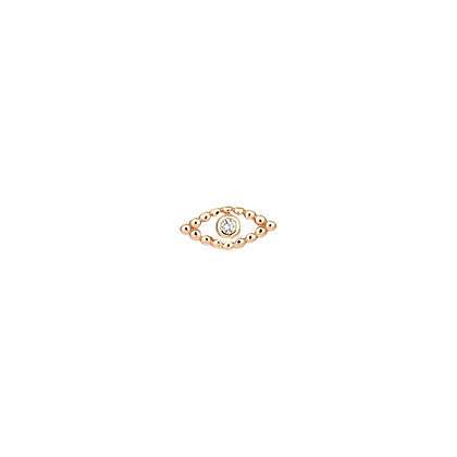 Kismet by Milka 14ct rose gold and small diamond evil eye (single)