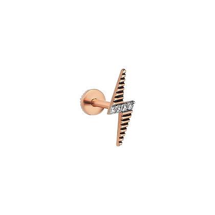 Kismet by Milka 14ct rose gold and diamond flash stud earring (single)