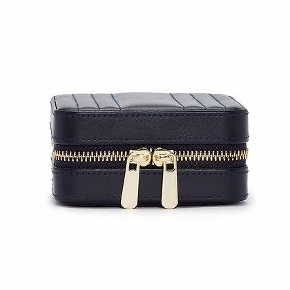 Maria square zip jewelry case - navy