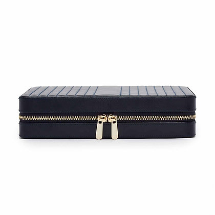 Large Maria square zip jewellery case - navy