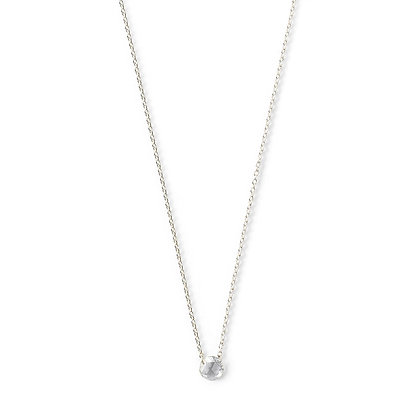 The Alkemistry 18ct white gold drilled rose cut diamond necklace