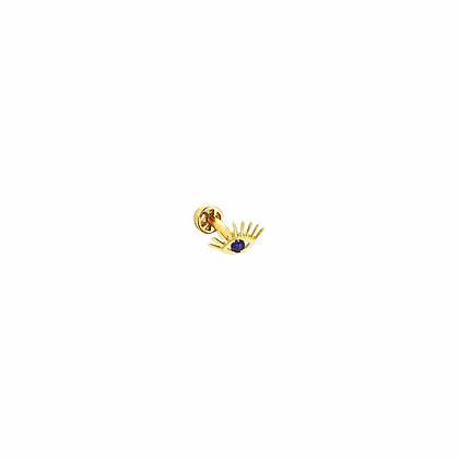 Kismet by Milka 14ct gold and sapphire evil eye piercing (single)