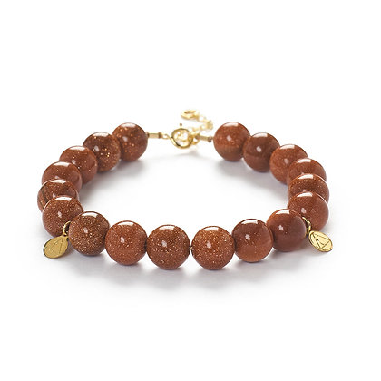 The Alkemistry 18ct yellow gold and Goldstone bracelet
