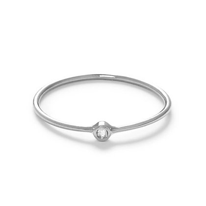 The Alkemistry 18ct white gold and diamond flow ring