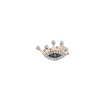 Kismet by Milka 14ct rose gold and diamond evil eye stud (single)