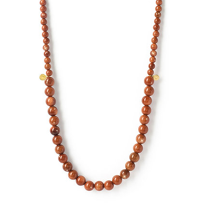 The Alkemistry 18ct yellow gold and goldstone necklace