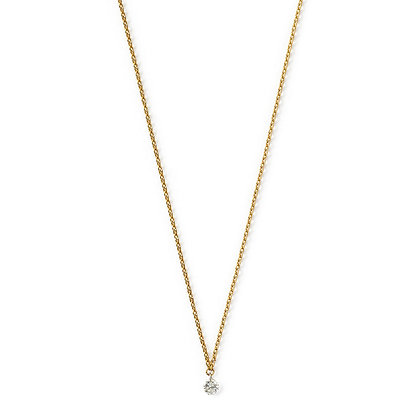 The Alkemistry 18ct yellow gold drilled diamond necklace