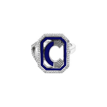 Colette 18ct white gold and diamond 'C' initial ring