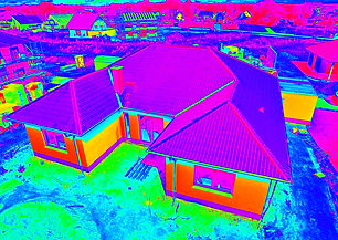 Thermal - Thermographic aerial view of a