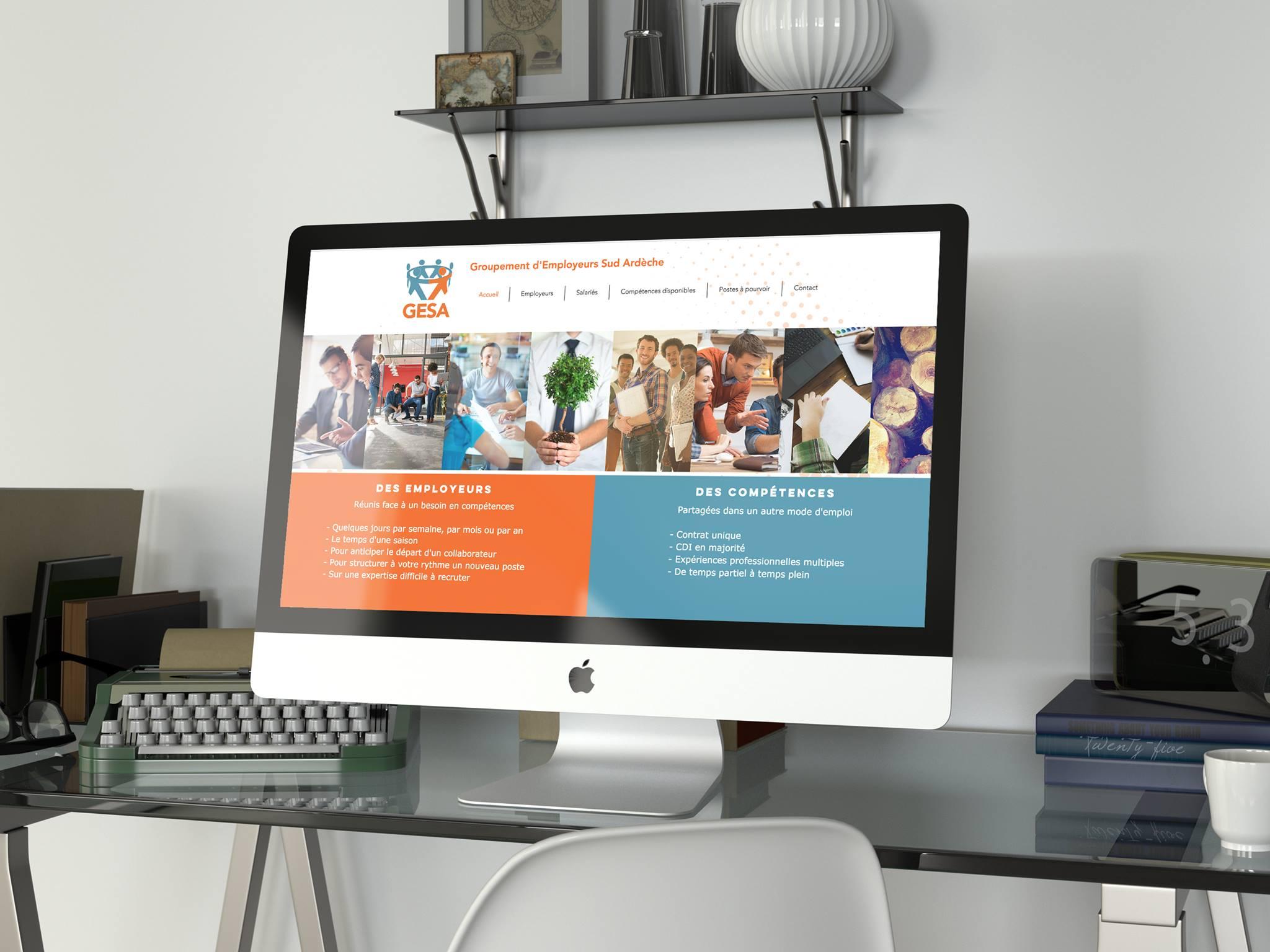 Création du site web GESA