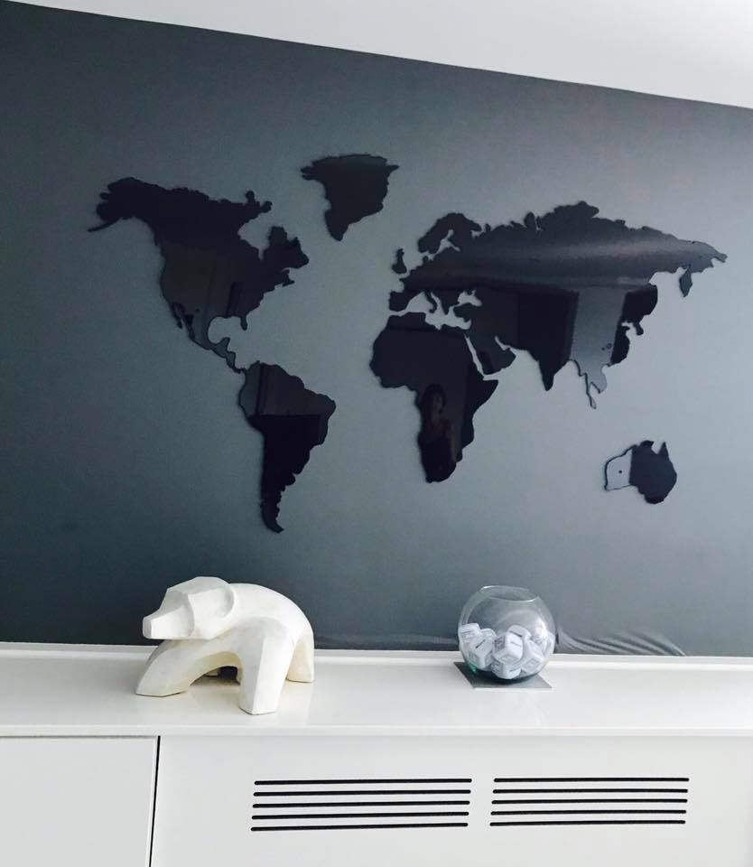 creation decoration mural map monde