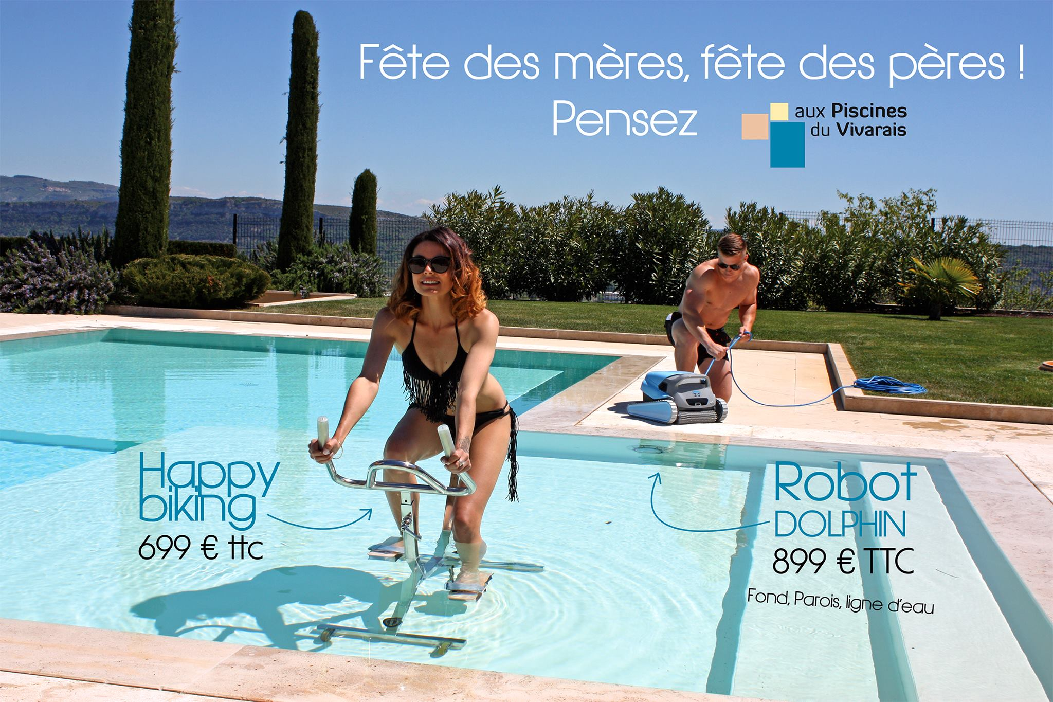Publicité Piscines du Vivarais
