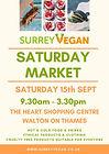 Walton on Thames Monthly Vegan Market