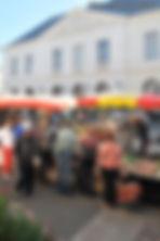 Marché local La Flèche Sarthe France