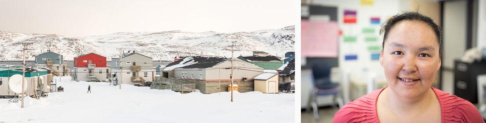 Paysage VII (gauche), Michelle Audlaluk (droite).