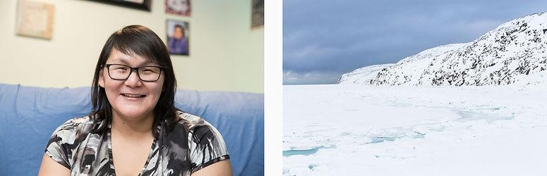 Maggie Ainalik (gauche), Paysage II (droite).