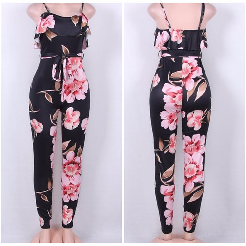 Pink Flower Jumpsuit