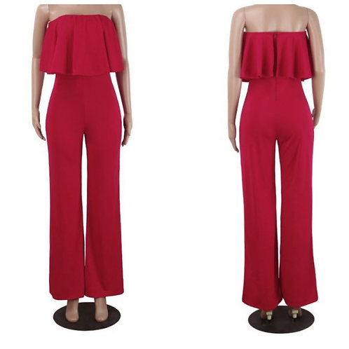 Tube Red Jumpsuit