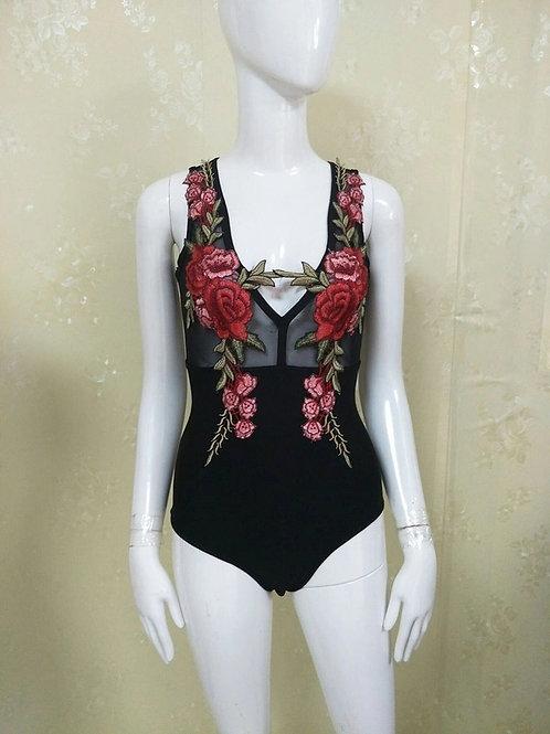 3D Flower Bandage Bodysuit