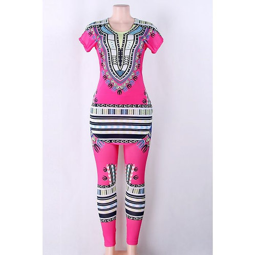Pink African Print Set
