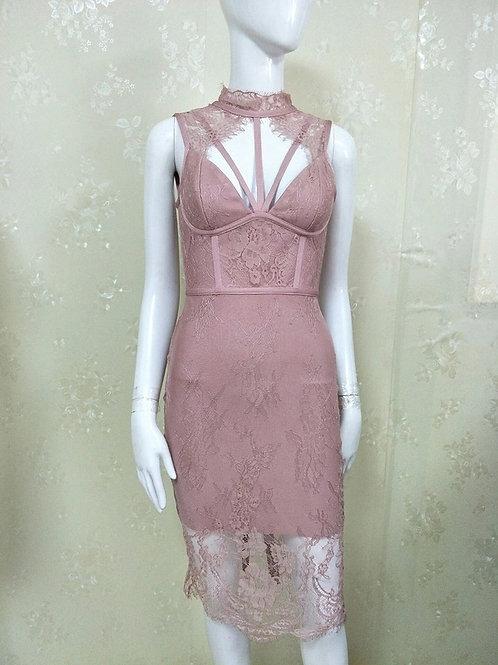 Soft Lace Bandage Flow Dress