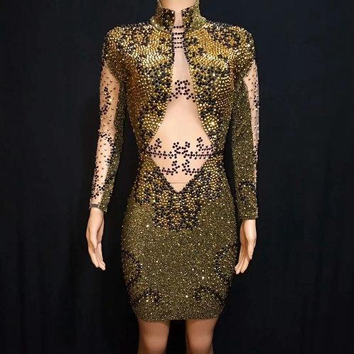 Embellished Stone Dress