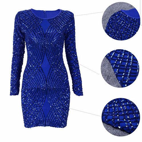 Blue StandOut Bandage Dress