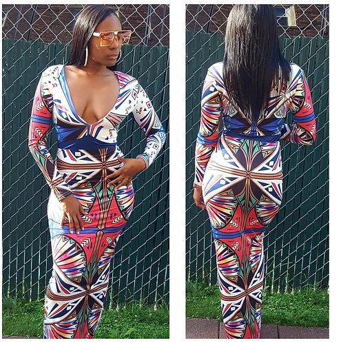 🌷 Printed Color Maxi Dress 🌷