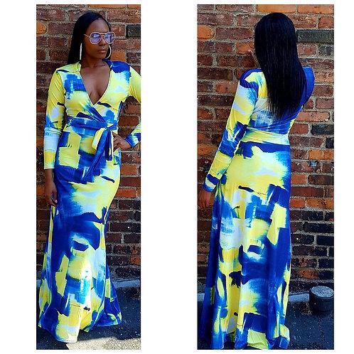 💙💛 Yellow & Blue Maxi Dress 💙💛