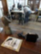 oficina, aquarela, tinta, papel, pinsel, mano