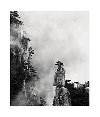 Chine, montagnes Hunagshan dans la brume. Tirage Fine Art 20x24 cm | Olivier Robert