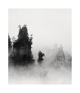 Chine, montagnes Hunagshan dans la brume. Tirage Fine Art 30x36 cm | Olivier Robert