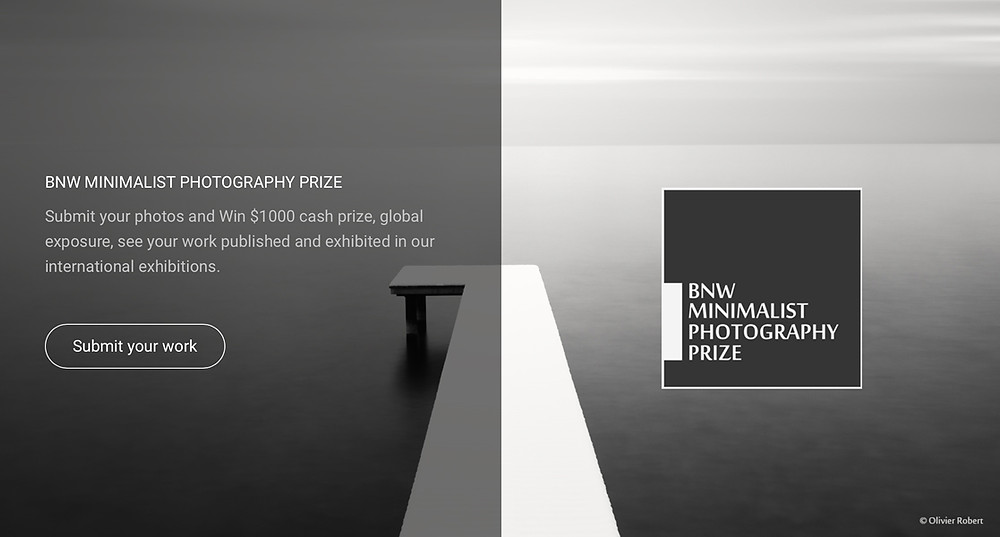 B&W Minimalism Prize 2020. Photo © Olivier Robert