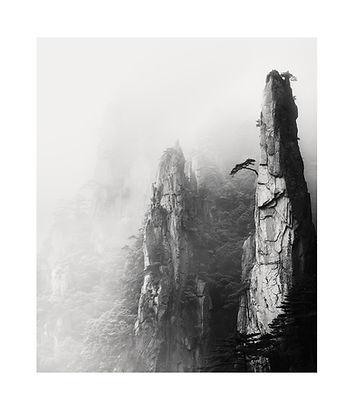 Chine, montagnes Hunagshan dans la brume. Tirage Fine Art 40x48 cm | Olivier Robert