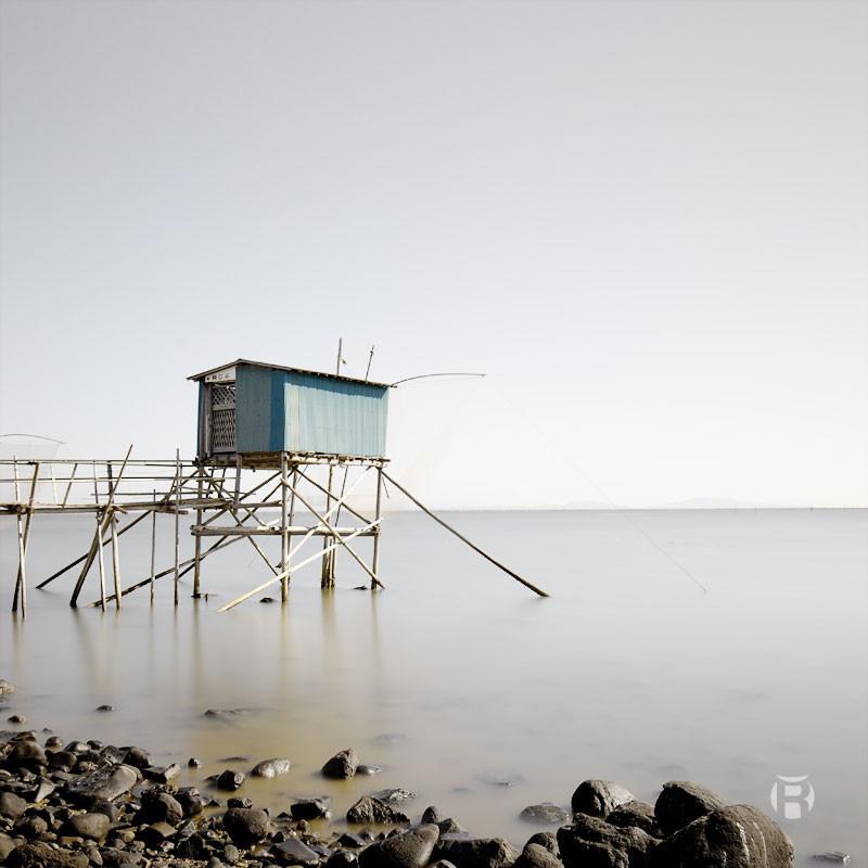 Japon: Les cabanes de pêche Tanajibu sur la mer d'Ariake - Olivier Robert