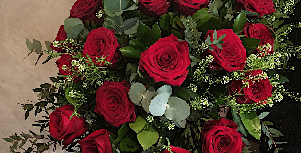 ramo rosas rojas San Valentín