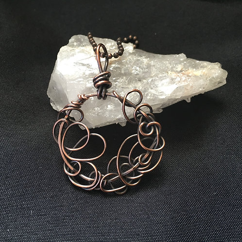 Copper Circle Necklace