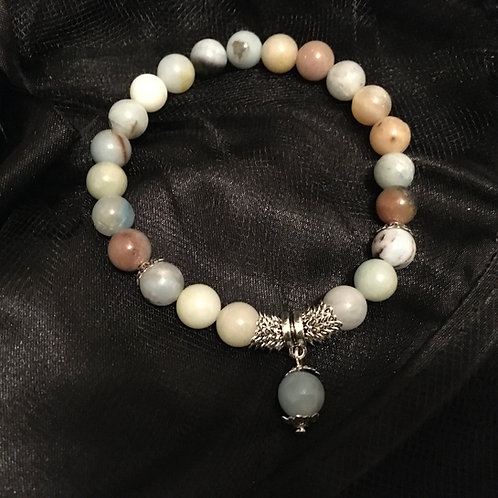 Amazonite Stretch Bead Bracelet