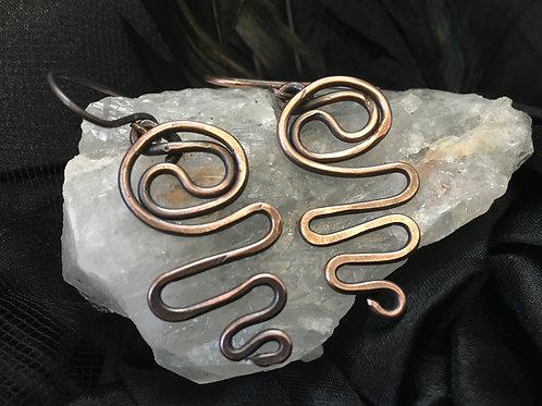 Copper Swirl Earring
