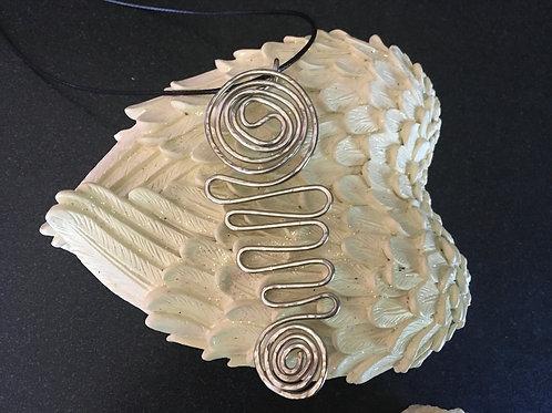 Hammered Wave Necklace