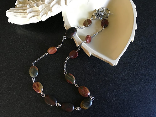 Picasso Jasper Necklace with Toggle Clasp