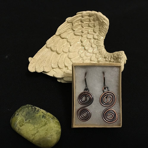 Two Swirl Earring